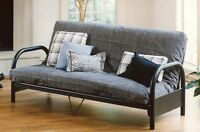 Brand new black futon bed with extra thick mattress !