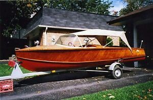 Lundy (not Lund) 14' Moulded  Plywood Runabout w/Trailer