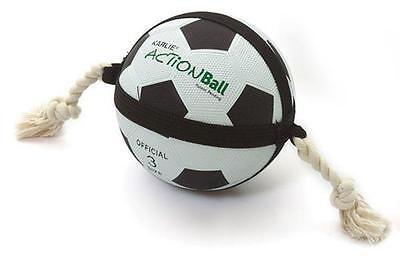 Hundespielzeug Actionball Karlie Fussball groß 19cm schwarz weiß