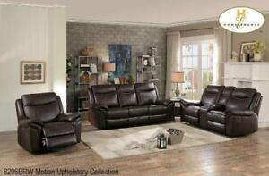 Brown Leather Recliner Set on Sale (BD-2396)