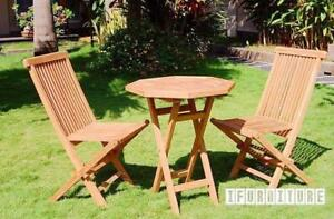 KING OF OUTDOOR--SOLID TEAK TABLE SET STARTS FROM $199