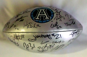 2016 team signed football comes with coa from  toronto argos