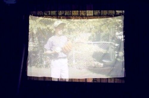 """6 X 9 ft Translucent Fabric Projection DIY home movie screen material 120"""" Vert."""