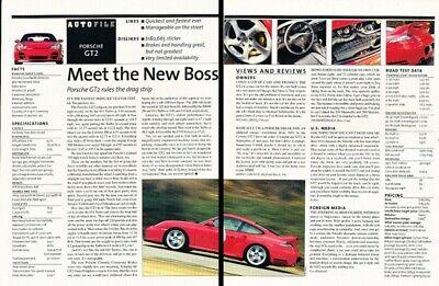 2002 Porsche 911 Turbo GT2 Original Review Report Print Car Article K92