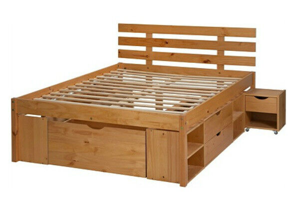 Brand new Ultimate Storage Double Bed Frame - Pine Effect  sc 1 st  Gumtree & Brand new Ultimate Storage Double Bed Frame - Pine Effect | in ...