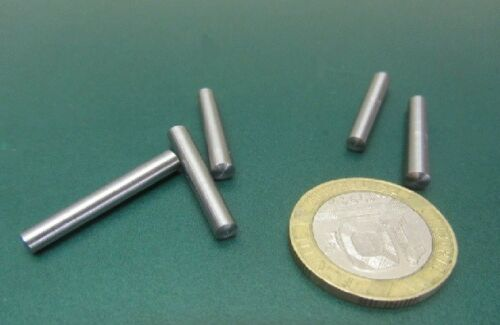 """Steel Taper Pins No. 0 .156 Large End x .135 Small End x 1.0"""" Long, 50 Pcs"""
