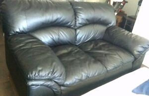 LEATHER COUCH AND CHAIR, GREAT CONDITION