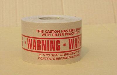 Gummed Tapereinforcedpre Printed Warning Tape 450 Ea 20 Rolls 42.00 Cs
