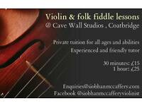 Violin and folk fiddle lessons in Coatbridge