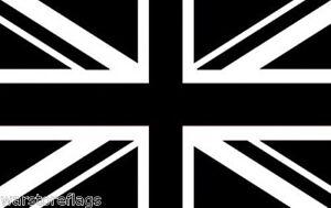 BLACK-WHITE-UNION-JACK-FLAG-3X2-ENGLAND-BRITAIN-UK