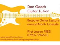 Guitar Lessons available throughout North Tyneside!
