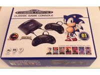 Sega Mega Drive Classic Game Console - Latest Model with 81 Built-in games