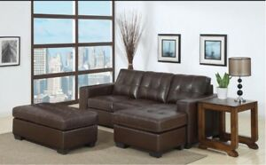 New sectional BONDED LEATHER couch