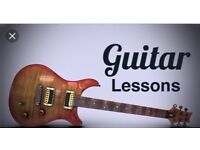 Electric guitar lessons. Beginners and intermediate players only