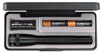 MINI MAG_LED 2AA schwarz im Etui mit Batterien OVP NEU Mini Mag-led