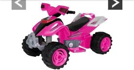 Pink battery powered quad