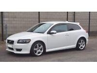 ⚪polar white R design c30 volvo top spec car poss px swap van