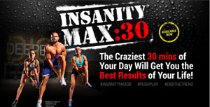 INSANITY MAX 30 (13 DVDS SET) BRAND NEW CO SEALED PACKED