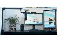 BLUE YETI MICROPHONE BOOM ARM AND SHOCKMOUNT