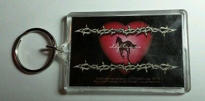 AS-IS DEFTONES BARBED WIRE HEART HORSE PONY GROUP BAND KEY CHAIN KEYCHAIN