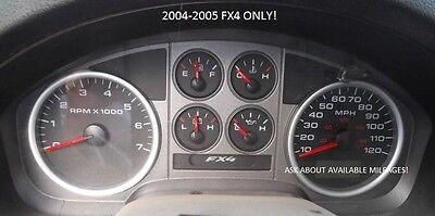 04-05 Ford F150 FX4 Instrument Gauge Cluster Speedometer Tach Speedo *PICK MILES ()