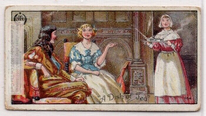 """When """"A Dish Of Tea"""" Was An Expensive Novelty 1920s Trade Ad Card"""