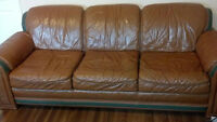 Leather 3-seat Couch