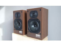 VINTAGE BOWERS AND WILKINS DM100 SPEAKERS POWERFUL SOUND 45 ONO
