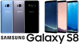 Unlocked Samsung Galaxy S8 Mobile Phone- Boxed - Orchid Grey