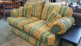 Set of 2 striped 2 seater sofas