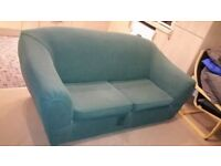 Green Two Seater Sofa Bed