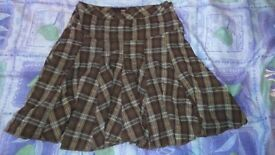 Thick tartan skirt size 8 from next