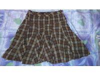 Thick tartan skirt size 8 from next