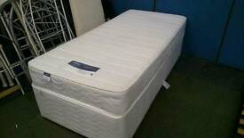 Silent night single bed base and mattress