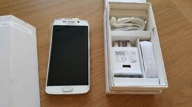 = WITH RECEIPT = SAMSUNG GALAXY S6 Edge 32GB White Pearl Unlocked - Good Condition FULLY BOXED