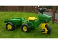 Toy tractor & trailer for sale