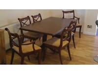 Dinning table and chair set.