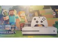 Xbox one s 500gb with minecraft brand new unopened