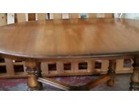 Ercol ding table and 6 chairs very heavy and sturdy some marks on table