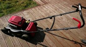 Lawn mower (petrol), shovel, small fork