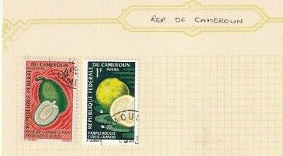 CAMEROON 1980's ALBUM PAGE OF 2 STAMPS