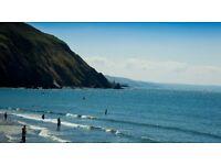 WOW Clarach Bay Beach Easter school Holiday Aberystwyth chalet with sea/hill views & entertainment