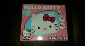 Hello kitty how to make your own beanie hat set