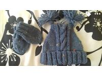 Brand new hand made Aran hat sets