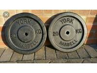 Weight plates metal 2 x 20kg
