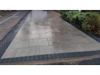 Driveway patio artificial grass landscaping fencing flagging turfing free estimate Manchester