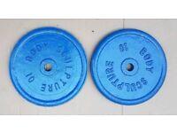 2 x 10kg cast iron weights