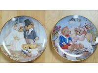 2 Beautiful Franklin Mint Plates