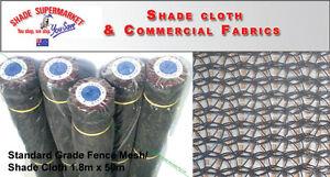 50% Fence Scaffold Mesh Shade Cloth 1.83m x 50m BLACK SHADECLOTH w/Eyelets
