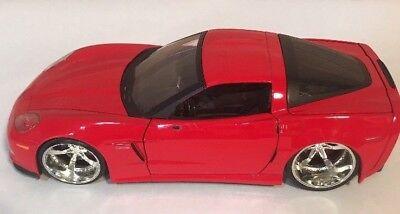 Car Toya (Jada Toya 2006 Corvette Z06 No 91183 Scale 1/25 Red Pre-Owned Race Car)